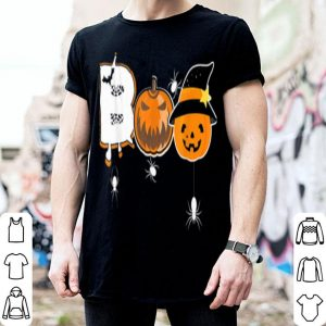 Hot Boo Gift For Halloween With Pumpkin Spider Bats shirt
