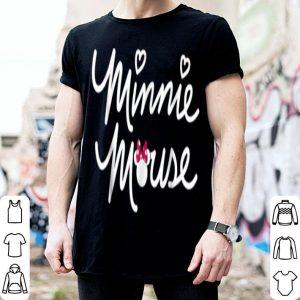 Hot Disney Minnie Mouse Script shirt