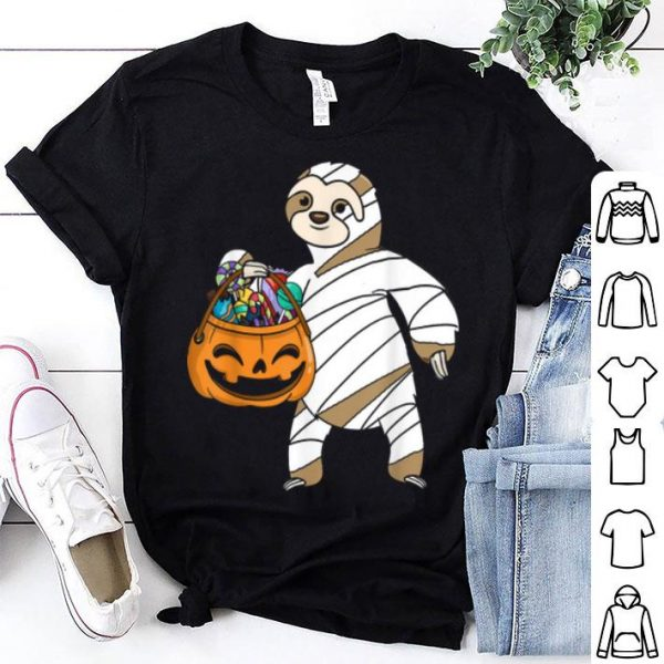 Hot Halloween Pumpkin Sloth Mummy Gift For Kids Boys Girls shirt
