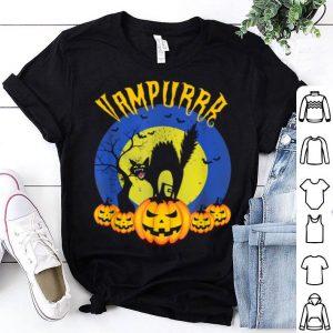 Hot Vampurrr Vampire Cat Funny Halloween Costume Pumpkin shirt