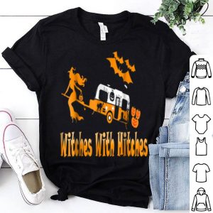 Hot Witches With Hitches Camping Funny Halloween T-Shirt Womens shirt