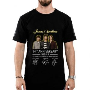 Jonas Brothers 14th Anniversary 2005-2019 With Signature shirt