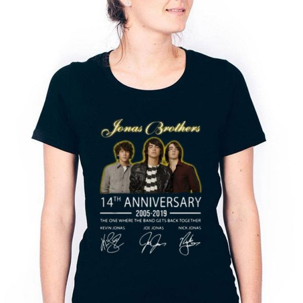 Jonas Brothers 14th Anniversary 2005-2019 With Signature shirt
