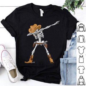Nice Dabbing Skeleton Cowboy Hat Halloween Kids Boys Dab shirt