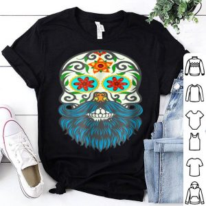 Nice Day Of The Dead Bearded Sugar Skull Halloween Costume shirt