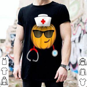 Nice Nurse Halloween Emoji Smiling Face With Sunglasses shirt