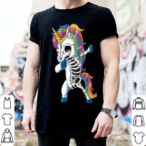 Official Dabbing Unicorn Skeleton Halloween Girls Dab Gifts shirt