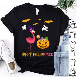 Official Funny Halloween Flamingo Witch Flamingo Pumpkin Gift shirt
