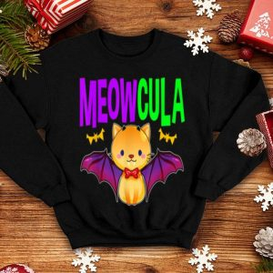 Official Meowcula Vampire Cat Kitty For Halloween Girls Women Kids shirt