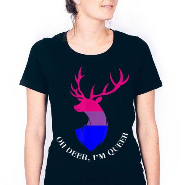 Oh Deer I'm Queer LGBT Bisexual Pride shirt