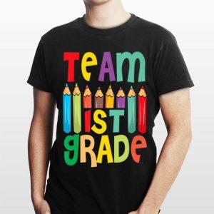 Pencils 1st Grade Heart First Day Of Shool Teacher Student shirt
