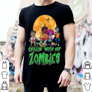 Premium Chillin With My Zombies Halloween Boys Kids Funny shirt