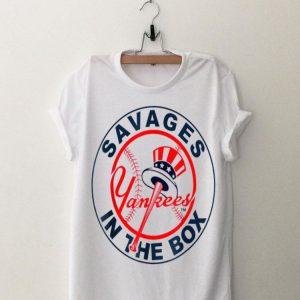 Savages In The Box Yankees Baseball shirt