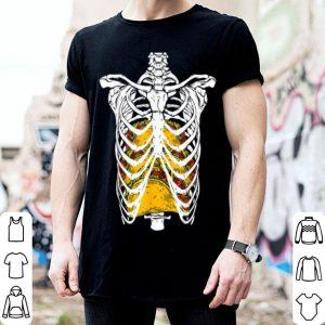 Top Halloween Costume Skeleton Rib Cage Taco Gift Idea shirt