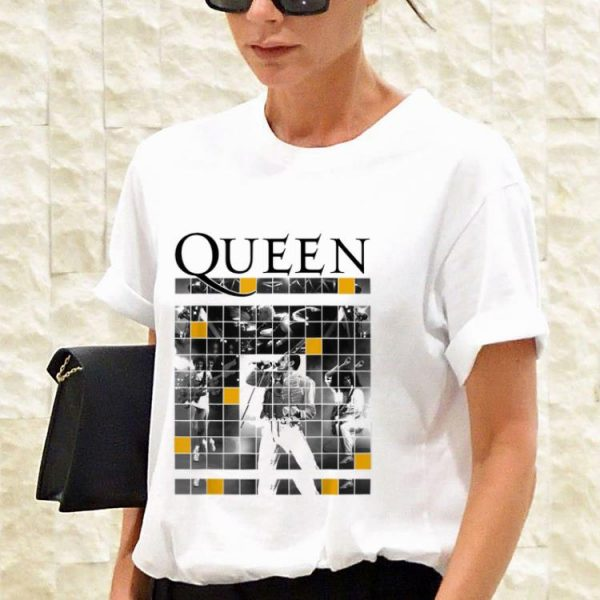 Top Queen Official Live Concert Blocks guy tee