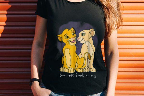 Wonder Disney Lion King Simba Nala Love Love Will Find A Way shirt