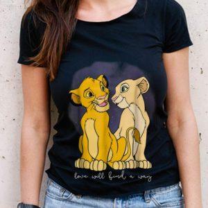 Wonder Disney Lion King Simba Nala Love Love Will Find A Way shirt 2
