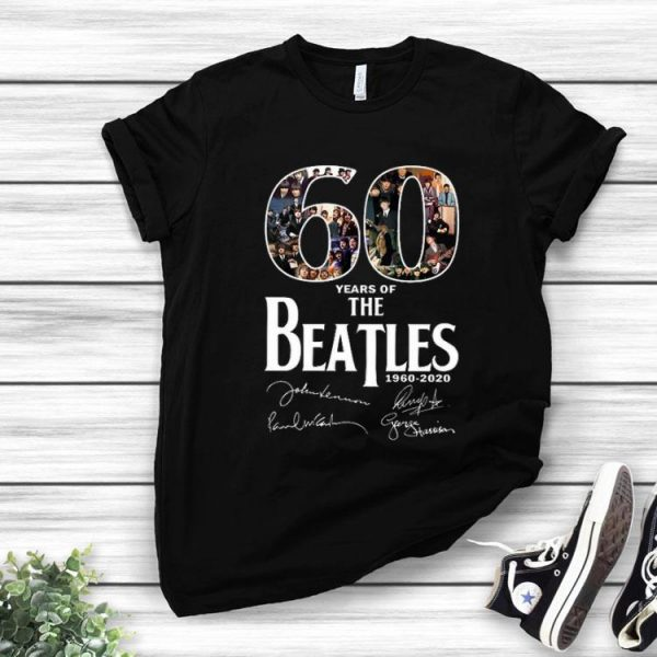 60 Years Of The Beatles 1960-2020 Signature shirt