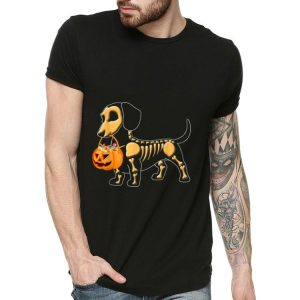 Happy Halloween Skeleton Dachshund Pumpkin shirt