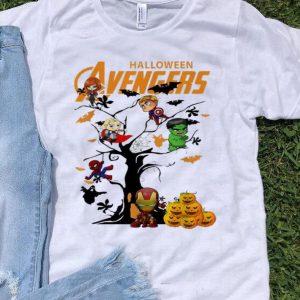 Avengers Character On Halloween Tree shirt
