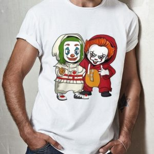 Baby Joker And Pennywise Halloween Cute Costume shirt