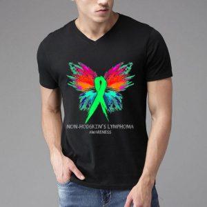 Butterfly Ribbon Non-hodgkin's Lymphoma Awareness shirt