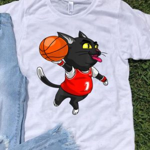 Cat Basketball Dunk Sports Player Halloween Costume shirt
