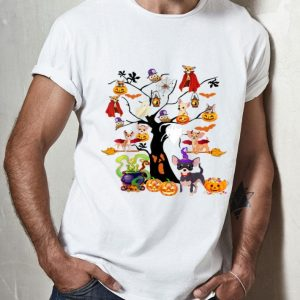 Chihuahua Witches On Halloween Tree Pumpkin Halloween shirt