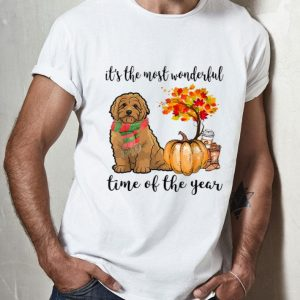 Goldendoodle Dog Autumn Fall - It's The Most Wonderful Time shirt