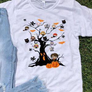 Harry Potter Character On Tree Horror Halloween Tree shirt
