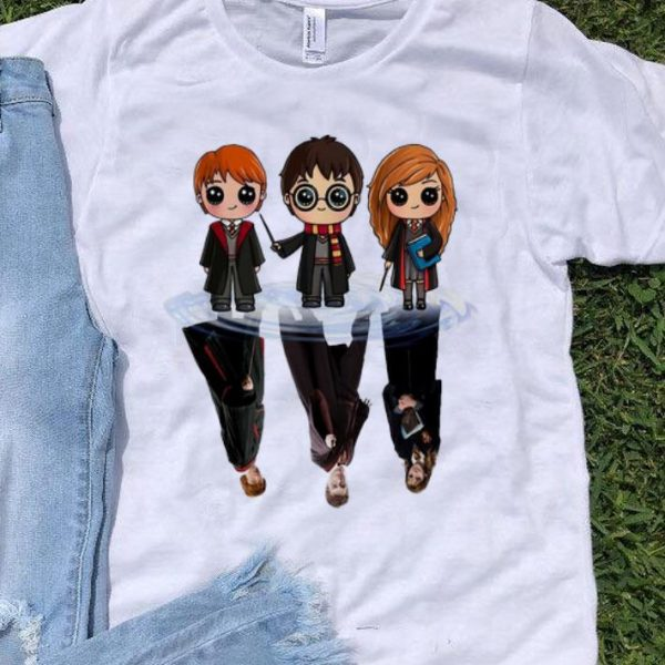 Harry Potter Water Reflection Mirror Harry Ron And Hermione shirt