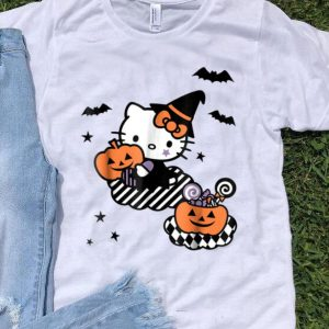 Hello Kitty Trick or Treat Halloween Pumpkin shirt