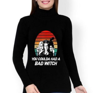 Hocus Pocus You Coulda Had A Bad Witch Vintage Sunset shirt
