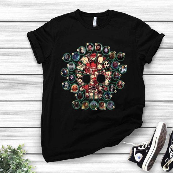 Horror Movie Characters Chibi Skull shirt