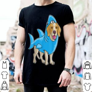 Hot Beagle Shark Funny Dog Suit Puppy Great White Gift shirt