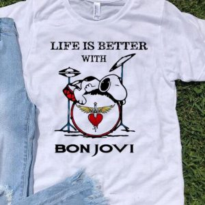 Life Is Better With Bon Jovi Snoopy Rock Band shirt