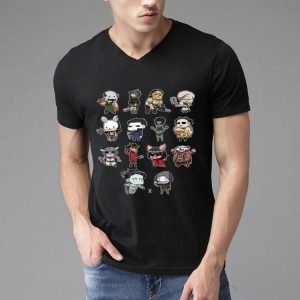 Movie Horror Characters With Their Weapon shirt