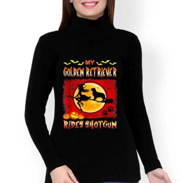 My Golden Retriever Rides Shotgun Halloween shirt