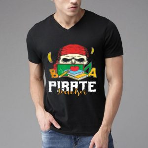 Pirate Teacher Skull Halloween Costume Funny shirt