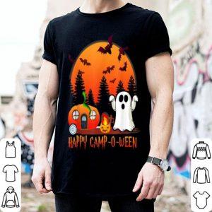 Premium Happy Camp-o-ween Funny Pumpkin Boo Moon Halloween Camping shirt