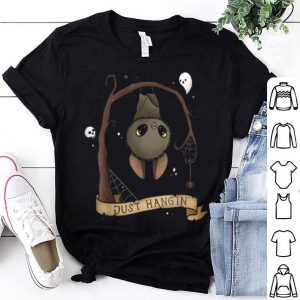 Premium Just Hangin Halloween Cute Hanging Bat Women Kids Gift shirt