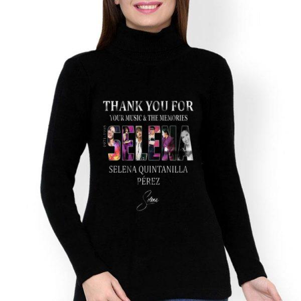 Selena Quintanilla Perez Signature Thanks For The Music shirt