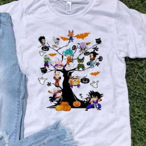 Son Goku - Dragon Ball Character On The Halloween Tree shirt