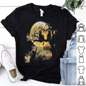 Spooky Cat Halloween Graveyard Cats shirt