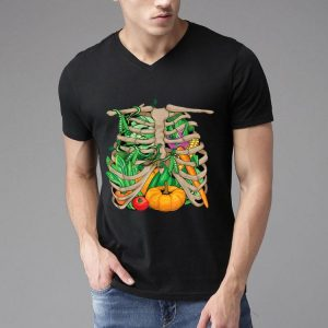 Vegetarian Vegetable Skeleton Halloween Costume shirt
