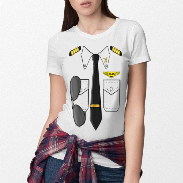 Awesome Airplane Airline Pilot Costume Kids Dress Up HALLOWEEN shirt