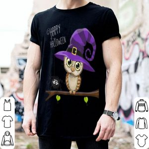 Awesome Halloween Owl Happy Halloween Tee shirt