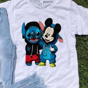 Baby Stitch And Mickey Mouse shirt