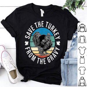 Beautiful 80s Vegan Thanksgiving Turkey For Women Men Animal Activist shirt