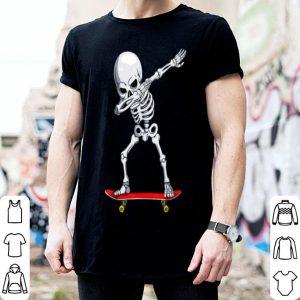 Beautiful Dabbing Skate Skeleton Skateboard Clothes, Skater Boys Mens shirt